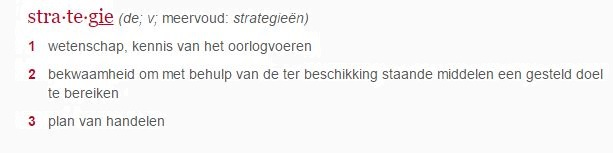 Definitie strategie
